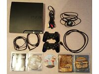 120GB Sony PlayStation 3 (PS3) with two controllers and games