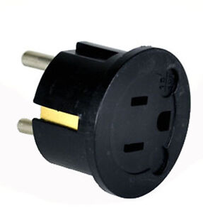 GS20-3-Prong-American-to-2-prong-European-round-Wall-Outlet-Plug-Adapter-NEW