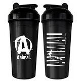 Universal Animal SHAKER 25 oz Protein Blender Mixer Bottle Cup Black