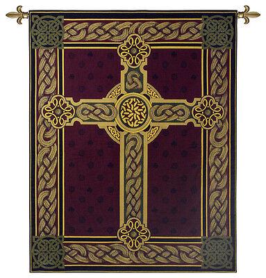 CELTIC CROSS TAPESTRY * Irish Scottish Celts Ornate Gaelic Knot 53