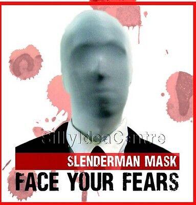 Slenderman Halloween Second 2nd Skin Mask, Scary fancy dress costume