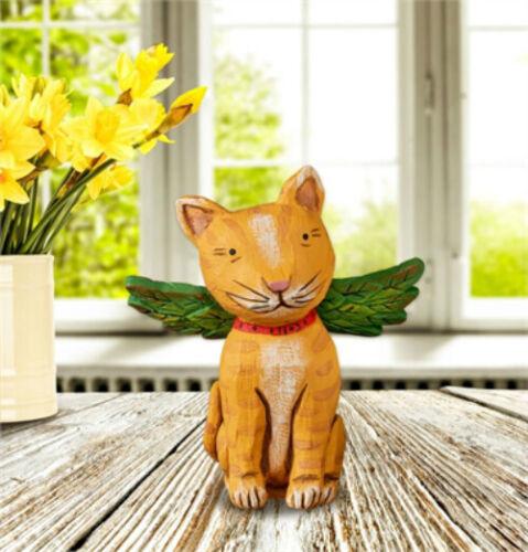"6"" x 3"" Orange Tabby Cat Pet Angel CHRISTMAS Studio M WW608 NEW ADORABLE! MinT~"