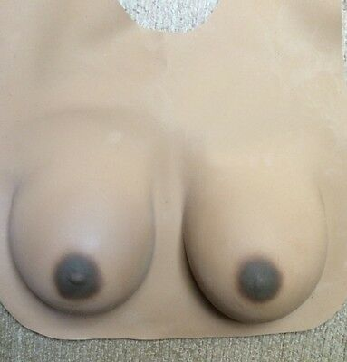 FAKE FALSE LATEX C CUP DRAG QUEEN COSTUME BOOBS~BREASTS~NECK - Boobs Costume