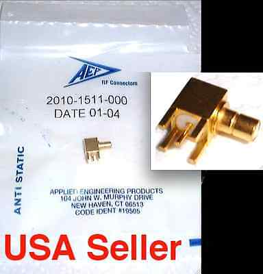 NEW SEALED -  AEP SMB Gold Plated  Male right angle PCB Connector - 50 Available