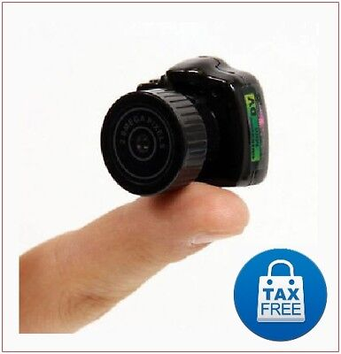 Super Mini Ultra Small Cat Collar Digital Camera Camcorder Little Spy Cam