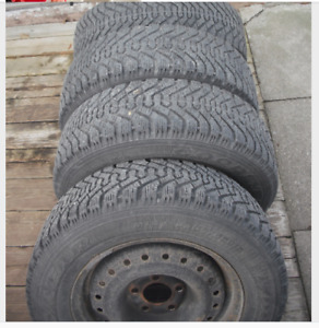 Set of 4 Goodyear Nordic Winter Tires & Rims