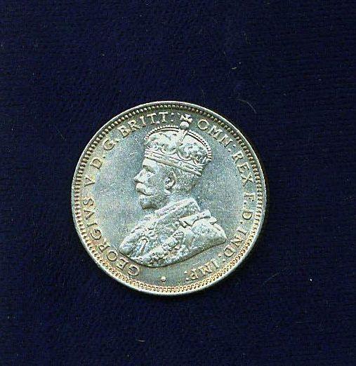 AUSTRALIA GEORGE V  1927  1 SHILLING COIN  XF/AU