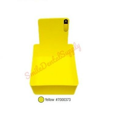 Dental Laboratory Working Case Plastic Pan Tray With Clip Holder Yellow Pans 1x