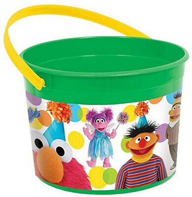 Sesame Street Buckets (Sesame Street goodies FAVOR PAIL/BUCKET  birthday party supplies 6 1/4