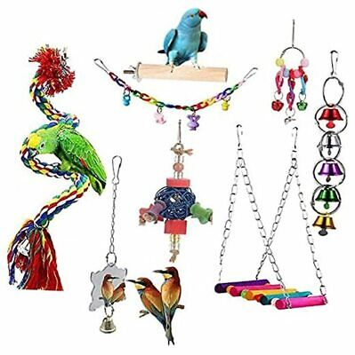 Parrot Bird Toys, Small Bird Cage Accessories for Parakeets, Cockatiel,