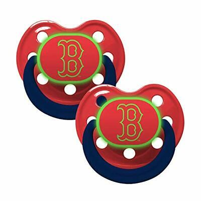 Boston Red Sox  glow in the dark baby Infant Pacifiers NEW 2 Pack Free Shipping (Red Glow In The Dark)