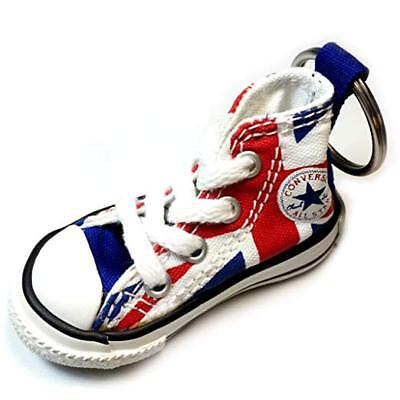 Converse All Star Chuck Taylor Mini Hi Top Shoe Keychain UK Flag NEW