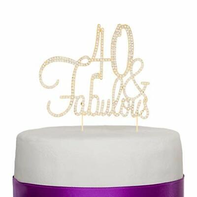 Decorations For 40th Birthday (40 & Fabulous Cake Topper for 40th Birthday Party Supplies Decoration)