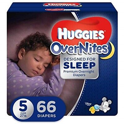 Huggies OverNites Diapers, Size 5 (27 lb) , Overnight Diapers, Giga Jr Pack, 58