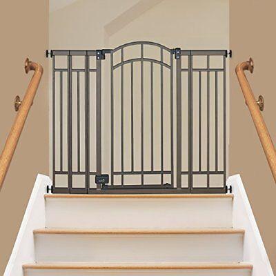 Dog Gate Indoor X-Tall Pet Fence Baby Barrier Adjustable Walk Thru Swinging Door