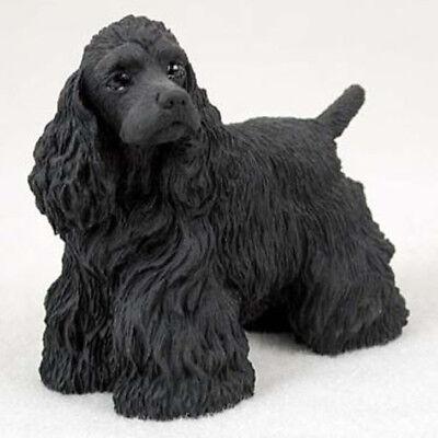 (COCKER SPANIEL (BLACK) DOG Figurine Statue Pet Lovers Gift Resin Figure)