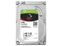 Seagate ironwolf 4tb hard drive as new