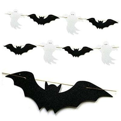 Glittery Bat Garland Flying Bats Ghost Halloween,Halloween Party Decorations,Hal