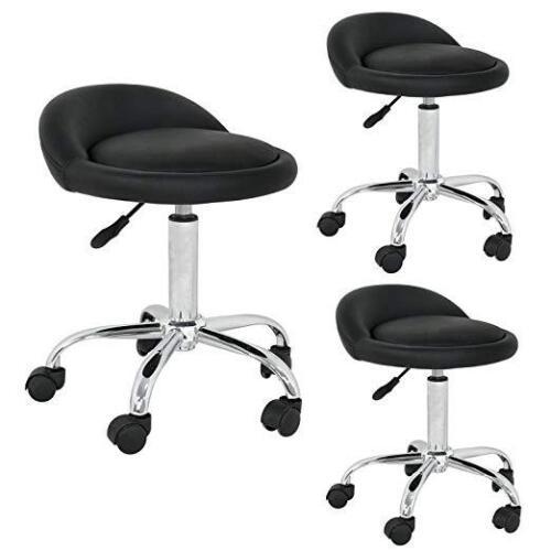 Set of 3 Rolling Swivel Salon Stool Adjustable Hydraulic chair Tattoo Massage Health & Beauty