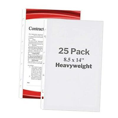 Legal Size Sheet Protector - Heavyweight 25 Pack 25 Pack Heavyweight