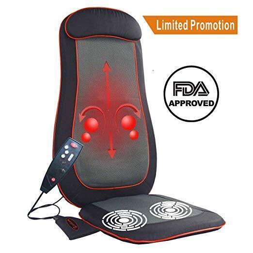 shiatsu full back seat massager pad