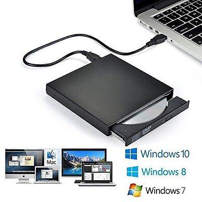 Laufwerk Windows Vista (USB 2.0 Enxtern CD-Laufwerk RW DVD-R Kombo Brenner für Windows 7 & 2000 XP Vista)
