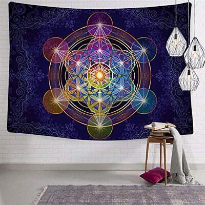 Metatron's Cube Wall Tapestry Merkabah Wall Hanging Sacred Geometry Tapestries