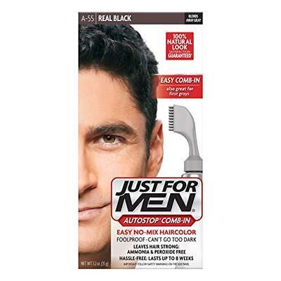 Nur für Herren- Autostop Herren Kamm-In Haarfarbe Echtes Schwarz 35.5ml