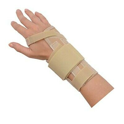 Rolyan AlignRite Wrist Support with Strap, Short Length, Left, Large, Padded Co