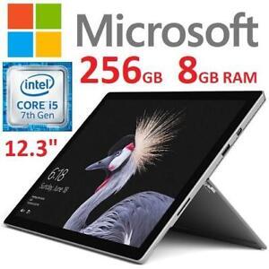 NEW MICROSOFT SURFACE PRO 256GB FJX-00001 244752876 12.3 I5-7300U 8GB RAM TABLET