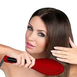 Hot and Straight Straightening Salon Brush with Temperature Cont
