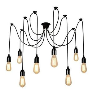 Fs: Spider ceiling pendant with edison bulbs