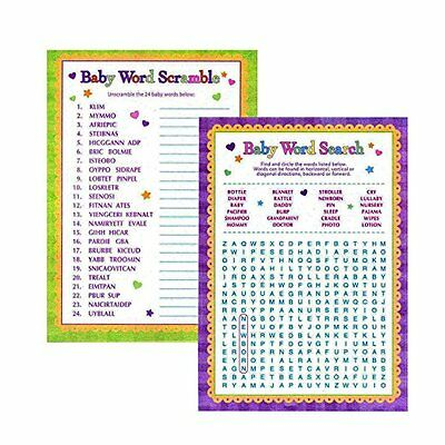 Word Scramble Game (Baby Shower Word Games - Word Search & Word Scramble Gender Reveal Games)