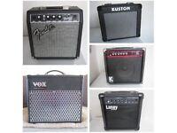 Guitar Amplifiers, VOX, Fender, Laney & Kustom.