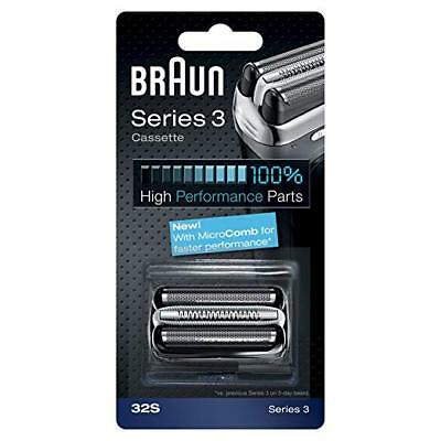 BRAUN 32S Replacement Foil Head Cutter Blades Shaver Razor Cassette Series 3 NEW