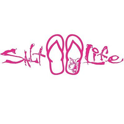"SALT LIFE SANDALS & SIGNATURE ""PINK"" UV Rated Vinyl DECAL *FREE SHIPPING*"