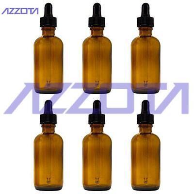 Azzota Amber Glass Bottles Wglass Eye Dropper12 Oz 15 Ml 24pk