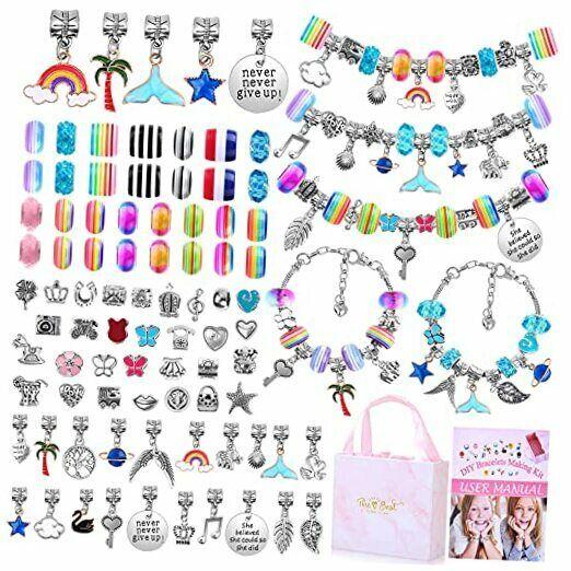 Bracelet Making Kit for Girls,  85PCs Charm Bracelets Kit with Beads, Jewelry
