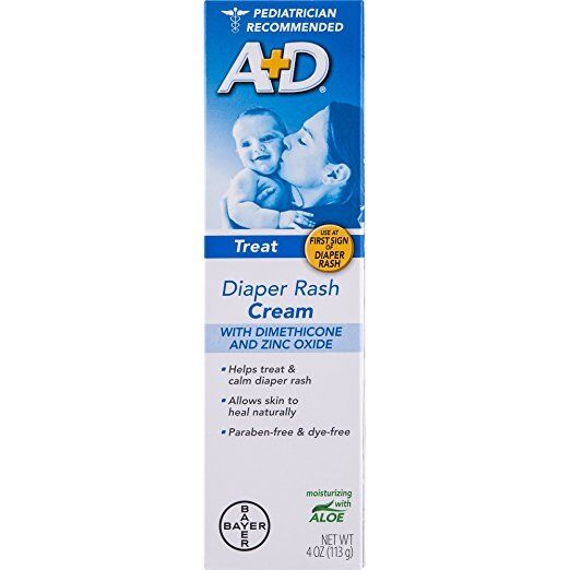 A+D Zinc Oxide Cream, 4 Ounce Packaging May Vary (4 Pack)