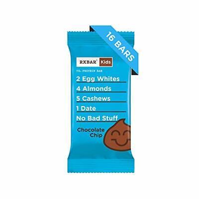 RXBAR Kids | Whole Food & Gluten Free Protein Bar | Chocolate Chip, 16 Bars -