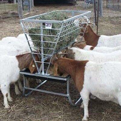 Little Giant Basic Goat Sheep Feeder-galvanized Steel Wpolypropylene Coating