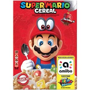 Super Mario Cereal - Fresh and is also an Amiibo