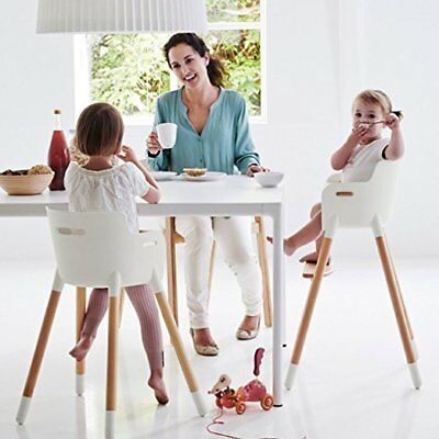Newest Wooden High Chair Adjustable Safety Baby Highchairs with Tray for Baby