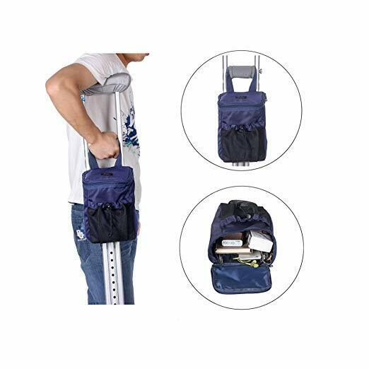 Crutches Bag Pouch Crutch Storage Pocket Caddy Carry On Tote