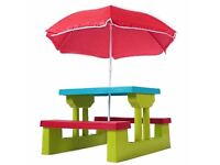 Brand NEW Kids Children's Picnic Bench Table Set Outdoor Furniture £35 o.b.o