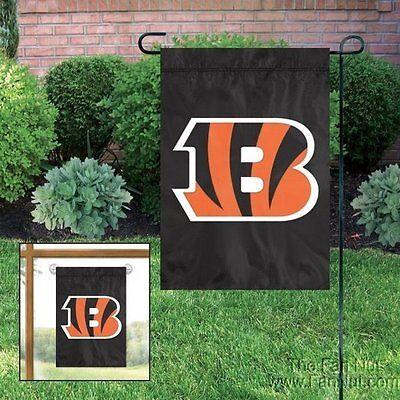 Cincinnati Bengals GARDEN Window Flag Banner Applique Embroidered Football Cincinnati Bengals Embroidered Football