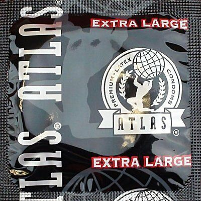 (Atlas Extra Large Lubricated Latex Condoms with Silver Pocket/Travel Case)