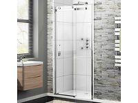 Frameless Sliding Shower Door 1050mm