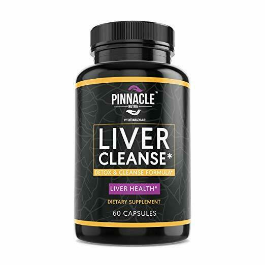Pinnacle Nutra Liver Cleanse Detox Formula 120 Capsules Supp