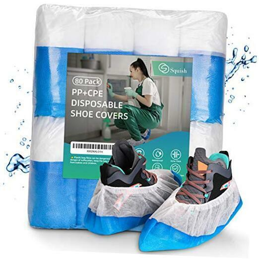 Shoe Covers Disposable Non Slip,  Heavy Duty Boot Covers 80 Pack Waterproof